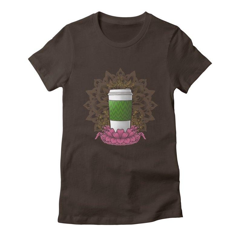 Autumn Latte Women's Fitted T-Shirt by godzillarge's Artist Shop