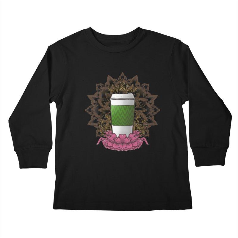 Autumn Latte Kids Longsleeve T-Shirt by godzillarge's Artist Shop