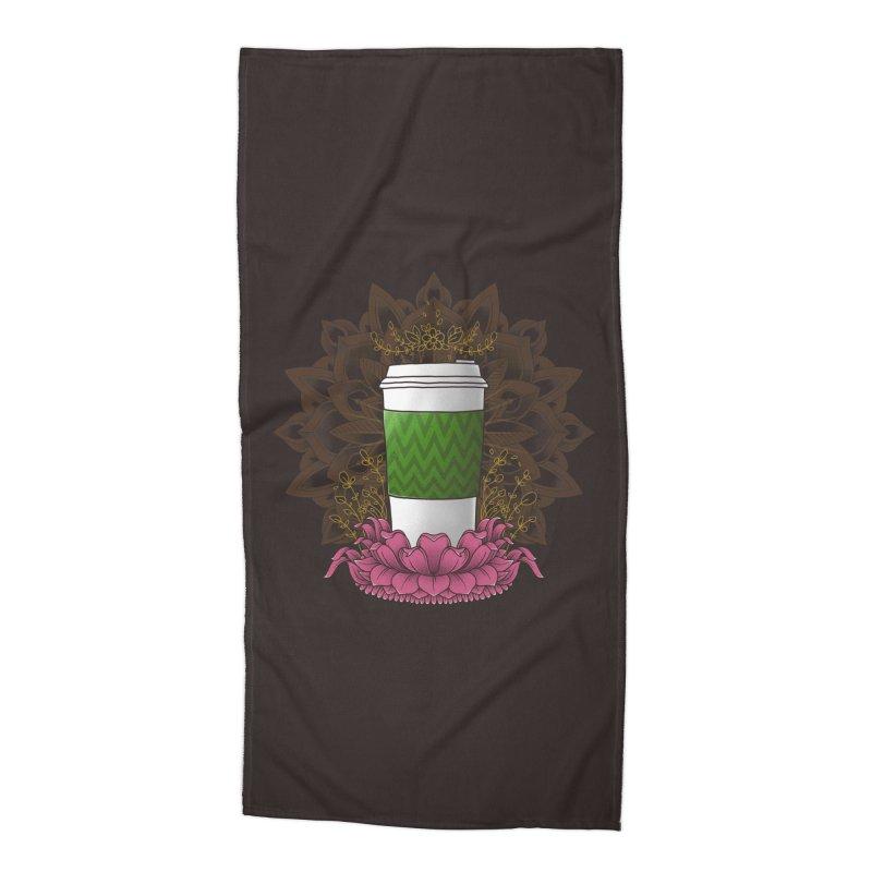 Autumn Latte Accessories Beach Towel by godzillarge's Artist Shop