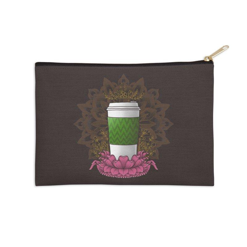 Autumn Latte Accessories Zip Pouch by godzillarge's Artist Shop