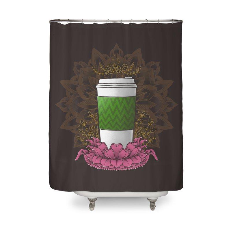 Autumn Latte Home Shower Curtain by godzillarge's Artist Shop