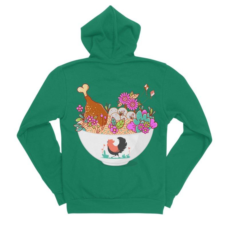 Bakmi Komplit Fantasy Men's Sponge Fleece Zip-Up Hoody by godzillarge's Artist Shop