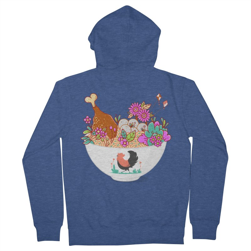 Bakmi Komplit Fantasy Women's French Terry Zip-Up Hoody by godzillarge's Artist Shop