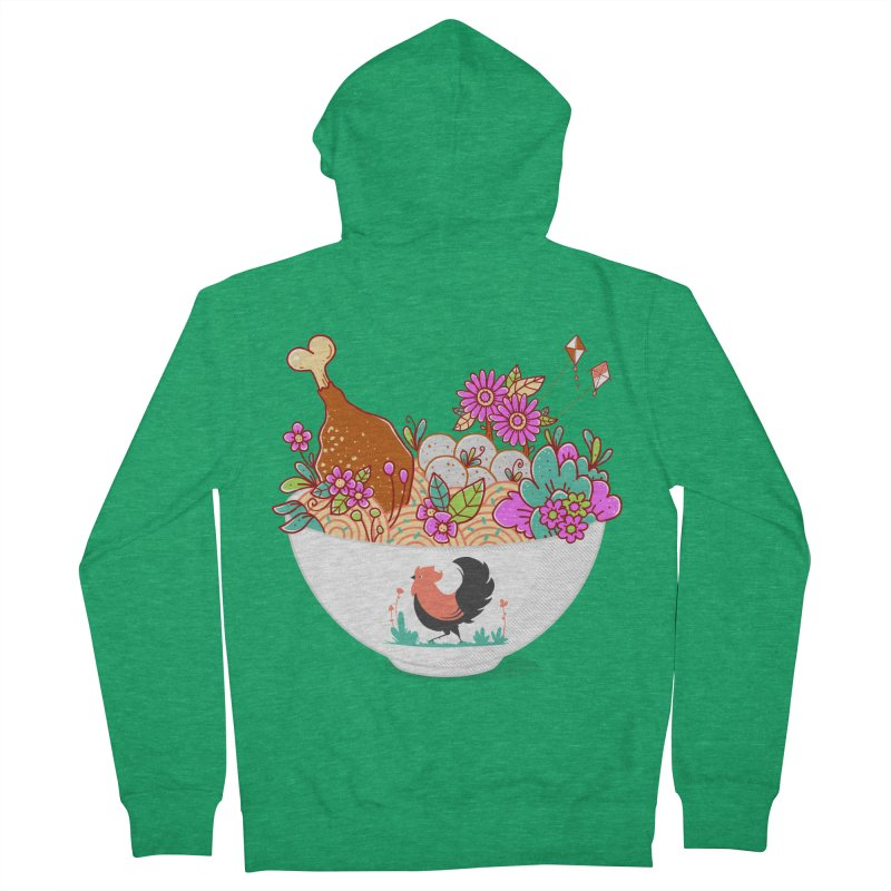 Bakmi Komplit Fantasy Men's French Terry Zip-Up Hoody by godzillarge's Artist Shop
