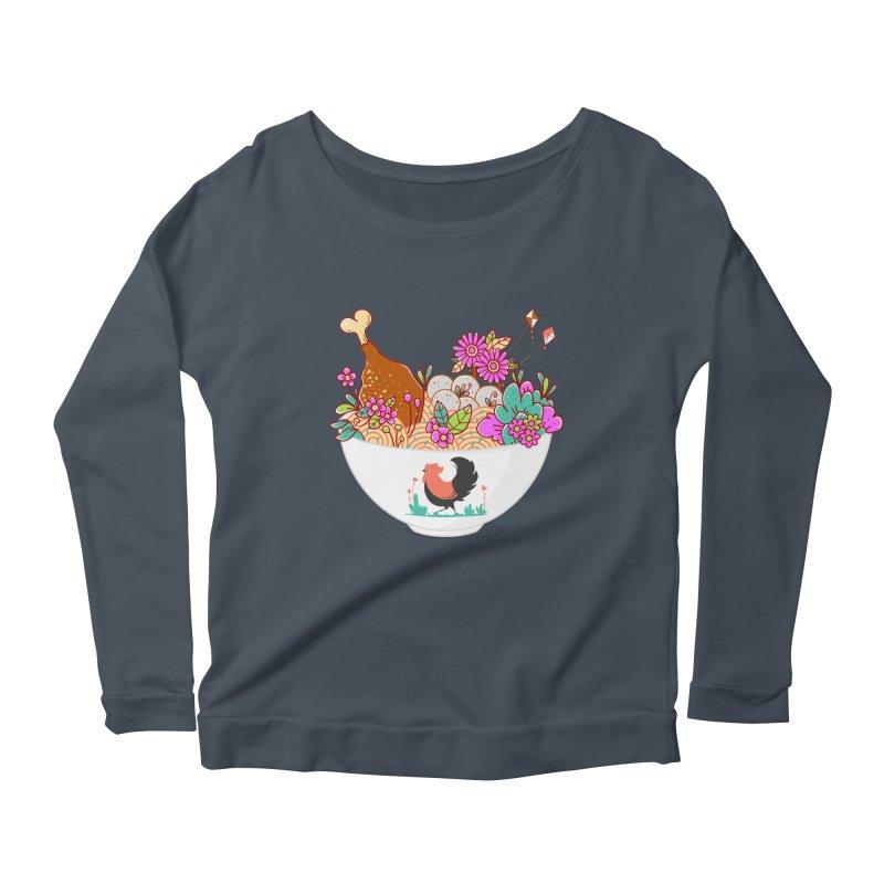 Bakmi Komplit Fantasy Women's Scoop Neck Longsleeve T-Shirt by godzillarge's Artist Shop