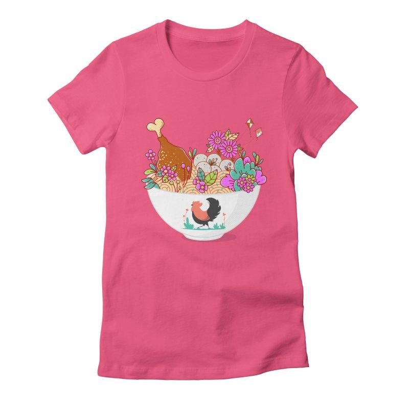 Bakmi Komplit Fantasy Women's Fitted T-Shirt by godzillarge's Artist Shop