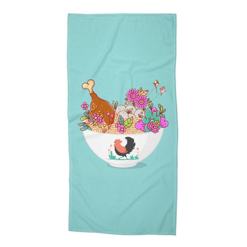 Bakmi Komplit Fantasy Accessories Beach Towel by godzillarge's Artist Shop