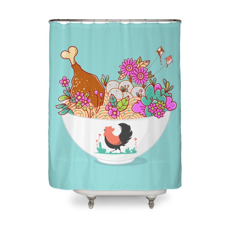 Bakmi Komplit Fantasy Home Shower Curtain by godzillarge's Artist Shop