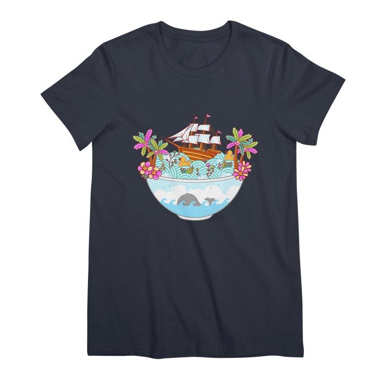 Ocean Adventure Ramen Women's Premium T-Shirt by godzillarge's Artist Shop