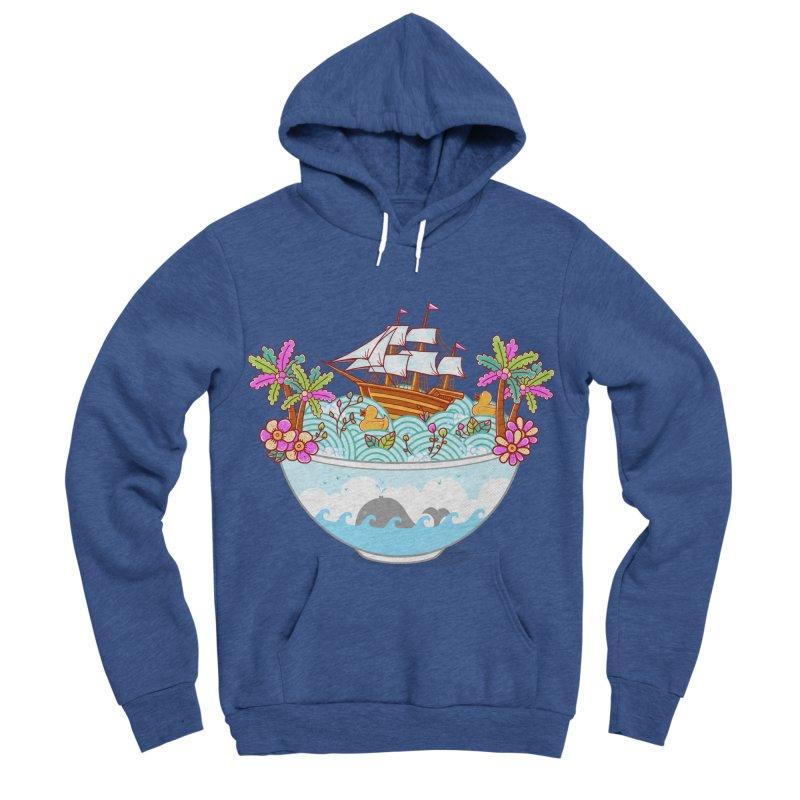 Ocean Adventure Ramen Men's Sponge Fleece Pullover Hoody by godzillarge's Artist Shop