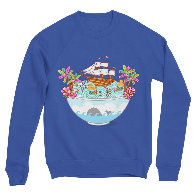 Ocean Adventure Ramen Men's Sponge Fleece Sweatshirt by godzillarge's Artist Shop
