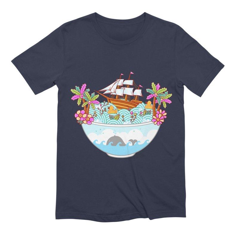 Ocean Adventure Ramen Men's Extra Soft T-Shirt by godzillarge's Artist Shop