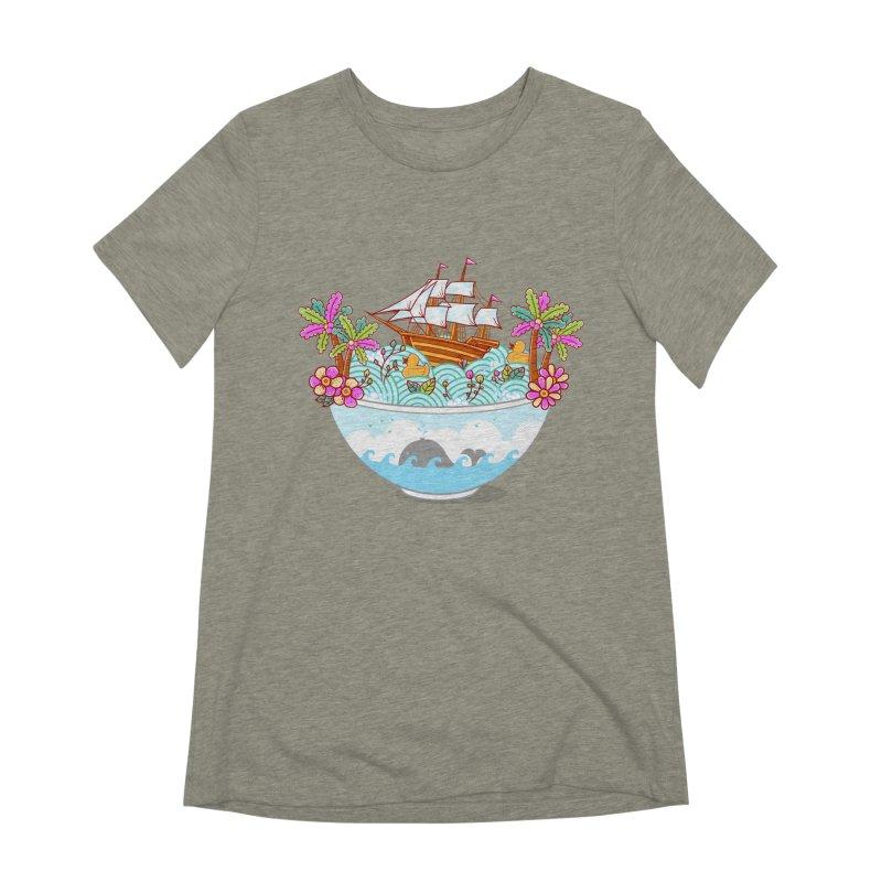 Ocean Adventure Ramen Women's Extra Soft T-Shirt by godzillarge's Artist Shop