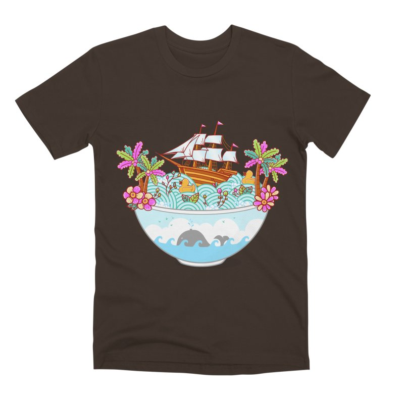 Ocean Adventure Ramen Men's Premium T-Shirt by godzillarge's Artist Shop