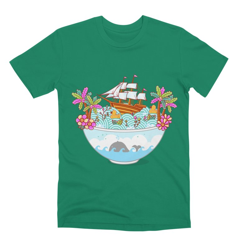 Ocean Adventure Ramen Men's Premium T-Shirt by godzillarge's Artist Shop