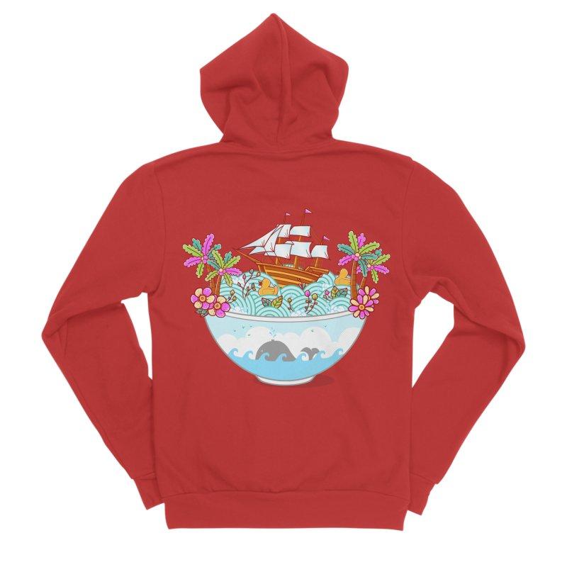 Ocean Adventure Ramen Women's Sponge Fleece Zip-Up Hoody by godzillarge's Artist Shop