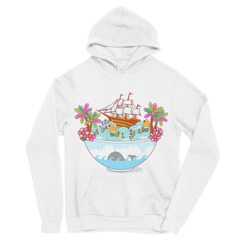 Ocean Adventure Ramen Women's Sponge Fleece Pullover Hoody by godzillarge's Artist Shop