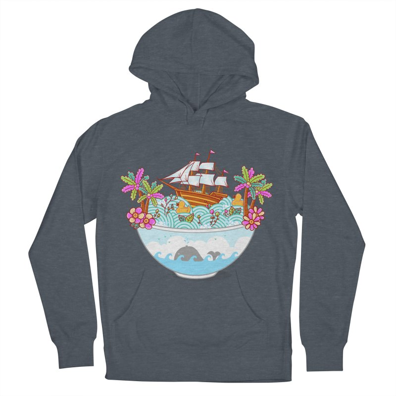 Ocean Adventure Ramen Women's French Terry Pullover Hoody by godzillarge's Artist Shop