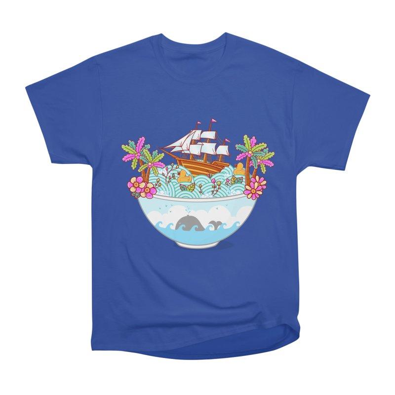 Ocean Adventure Ramen Women's Heavyweight Unisex T-Shirt by godzillarge's Artist Shop
