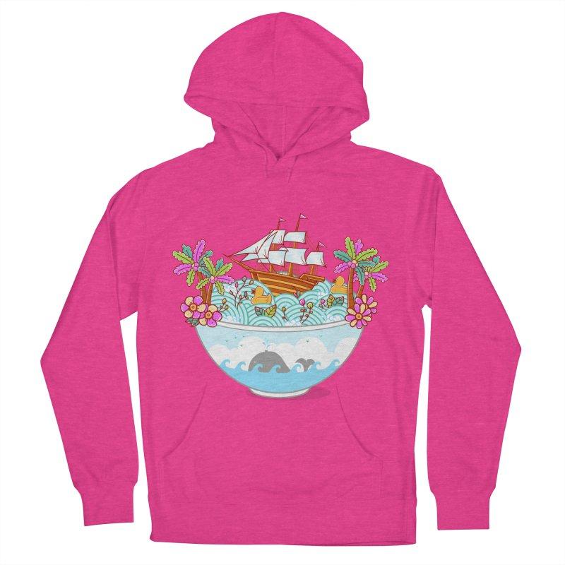 Ocean Adventure Ramen Women's French Terry Pullover Hoody by godzillarge's Artist Shop