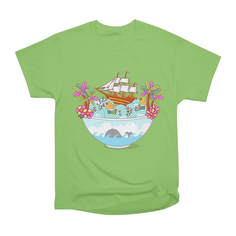 Ocean Adventure Ramen Men's Heavyweight T-Shirt by godzillarge's Artist Shop