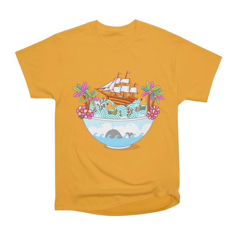 Ocean Adventure Ramen Men's Heavyweight T-Shirt by godzillarge's Artist Shop