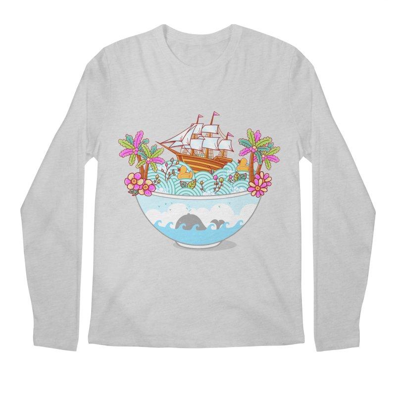 Ocean Adventure Ramen Men's Regular Longsleeve T-Shirt by godzillarge's Artist Shop