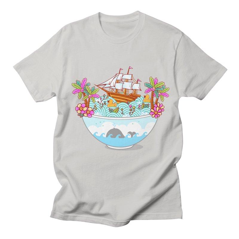 Ocean Adventure Ramen Men's Regular T-Shirt by godzillarge's Artist Shop
