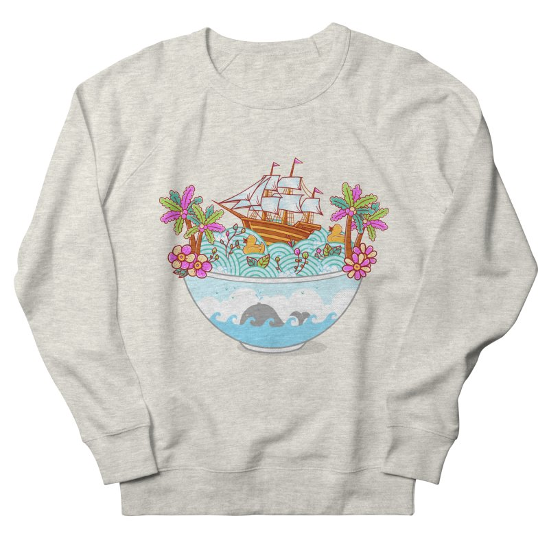 Ocean Adventure Ramen Women's French Terry Sweatshirt by godzillarge's Artist Shop