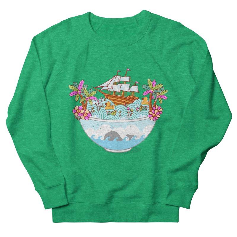 Ocean Adventure Ramen Men's French Terry Sweatshirt by godzillarge's Artist Shop