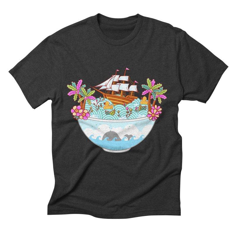 Ocean Adventure Ramen Men's Triblend T-Shirt by godzillarge's Artist Shop
