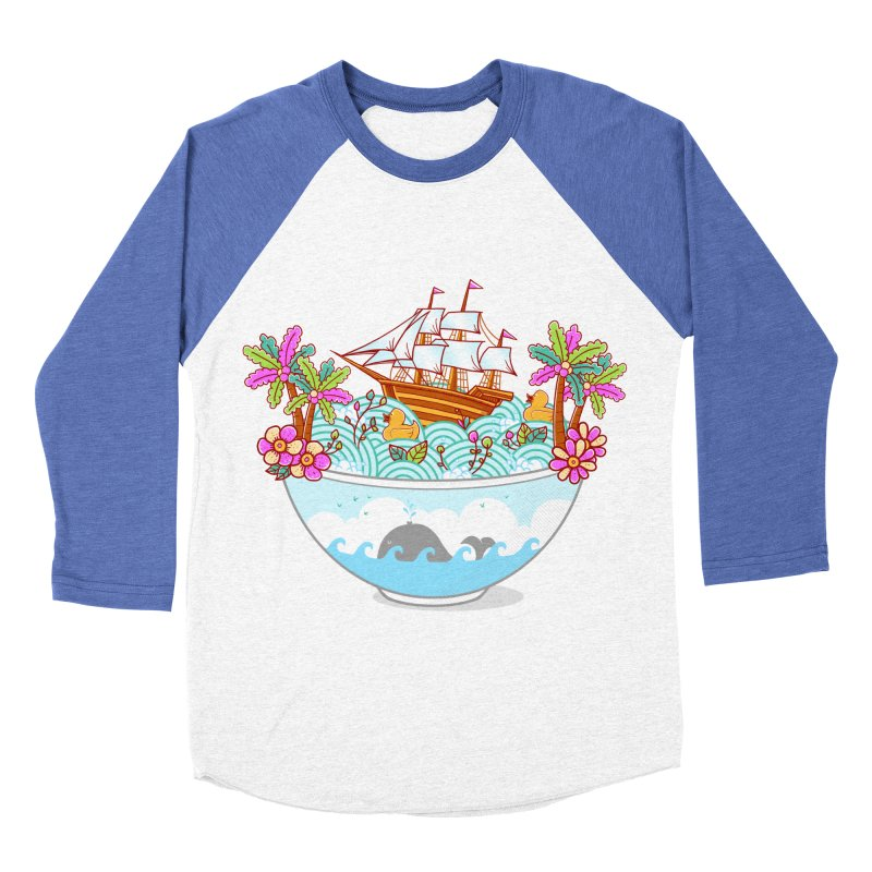 Ocean Adventure Ramen Women's Baseball Triblend Longsleeve T-Shirt by godzillarge's Artist Shop