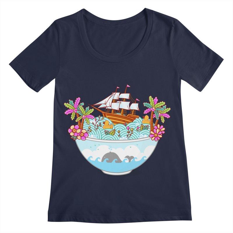 Ocean Adventure Ramen Women's Regular Scoop Neck by godzillarge's Artist Shop