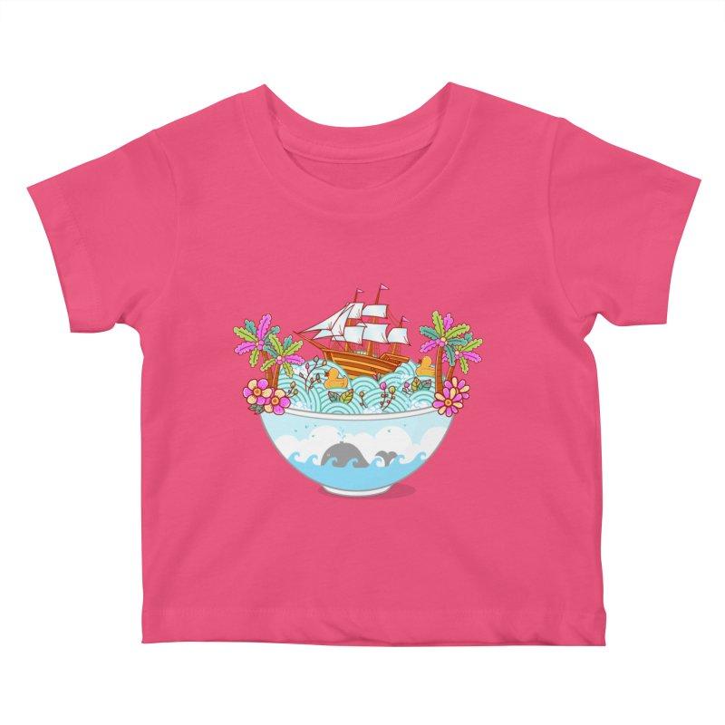 Ocean Adventure Ramen Kids Baby T-Shirt by godzillarge's Artist Shop