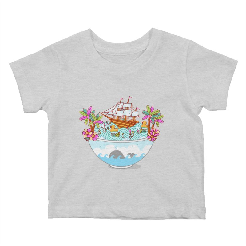 Ocean Adventure Ramen Kids Baby T-Shirt by godzillarge's Artist Shop