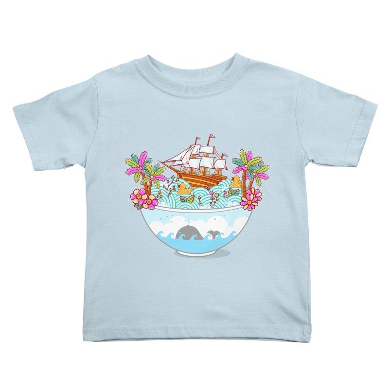 Ocean Adventure Ramen Kids Toddler T-Shirt by godzillarge's Artist Shop