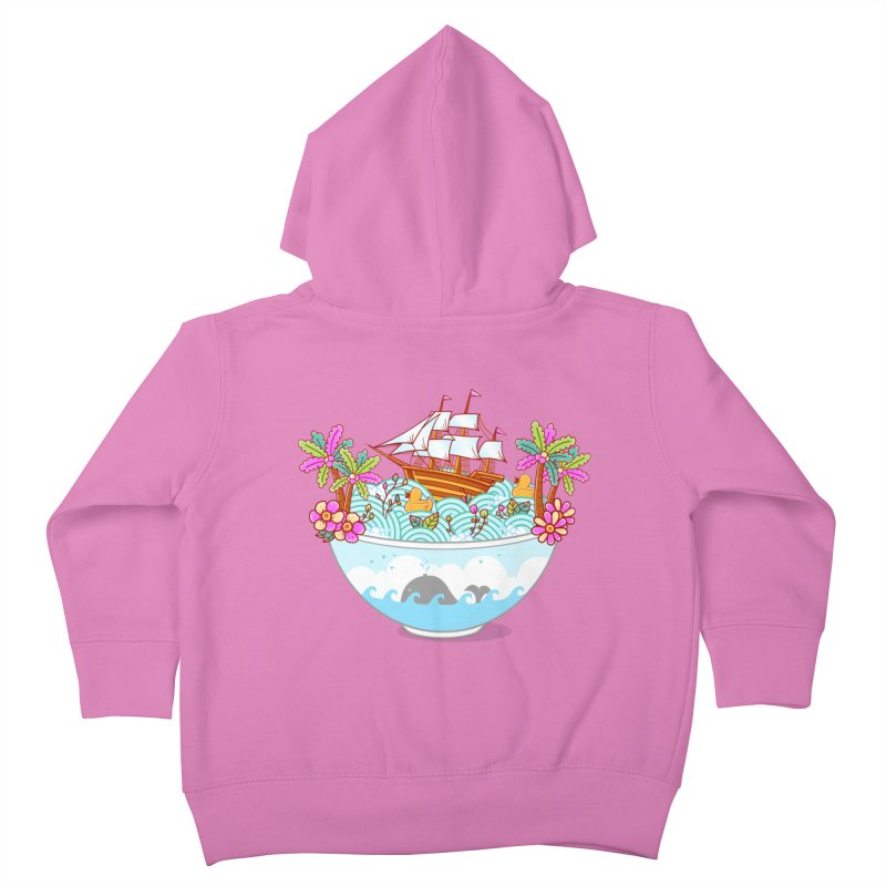 Ocean Adventure Ramen Kids Toddler Zip-Up Hoody by godzillarge's Artist Shop