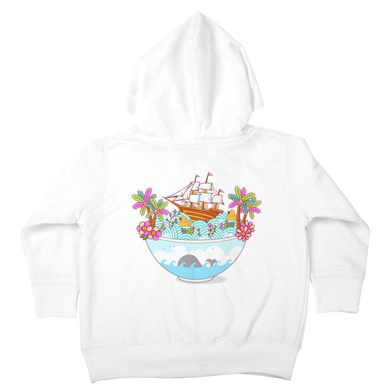 Ocean Adventure Ramen Kids Toddler Zip-Up Hoody by godzillarge's Artist Shop