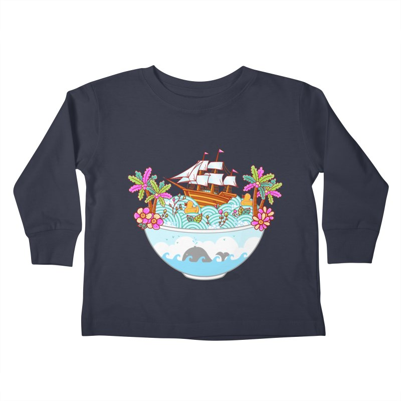 Ocean Adventure Ramen Kids Toddler Longsleeve T-Shirt by godzillarge's Artist Shop