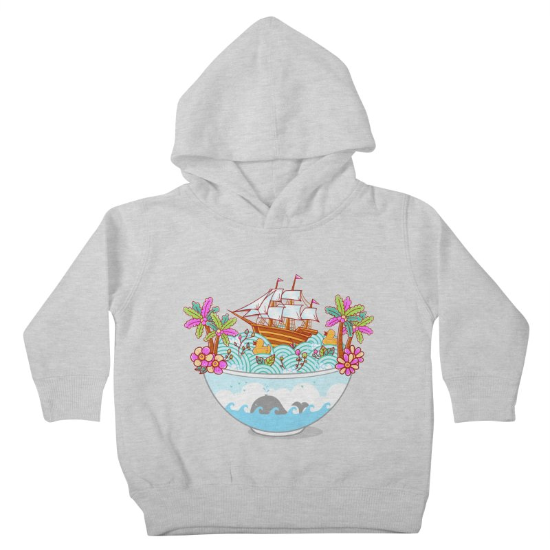 Ocean Adventure Ramen Kids Toddler Pullover Hoody by godzillarge's Artist Shop