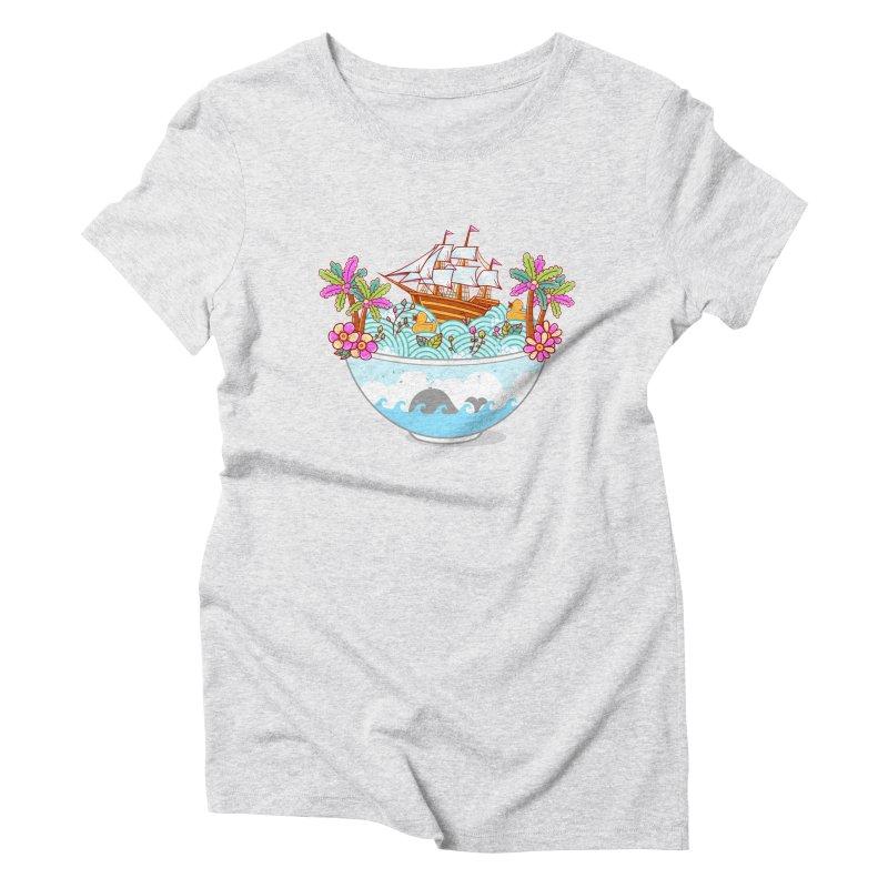 Ocean Adventure Ramen Women's Triblend T-Shirt by godzillarge's Artist Shop