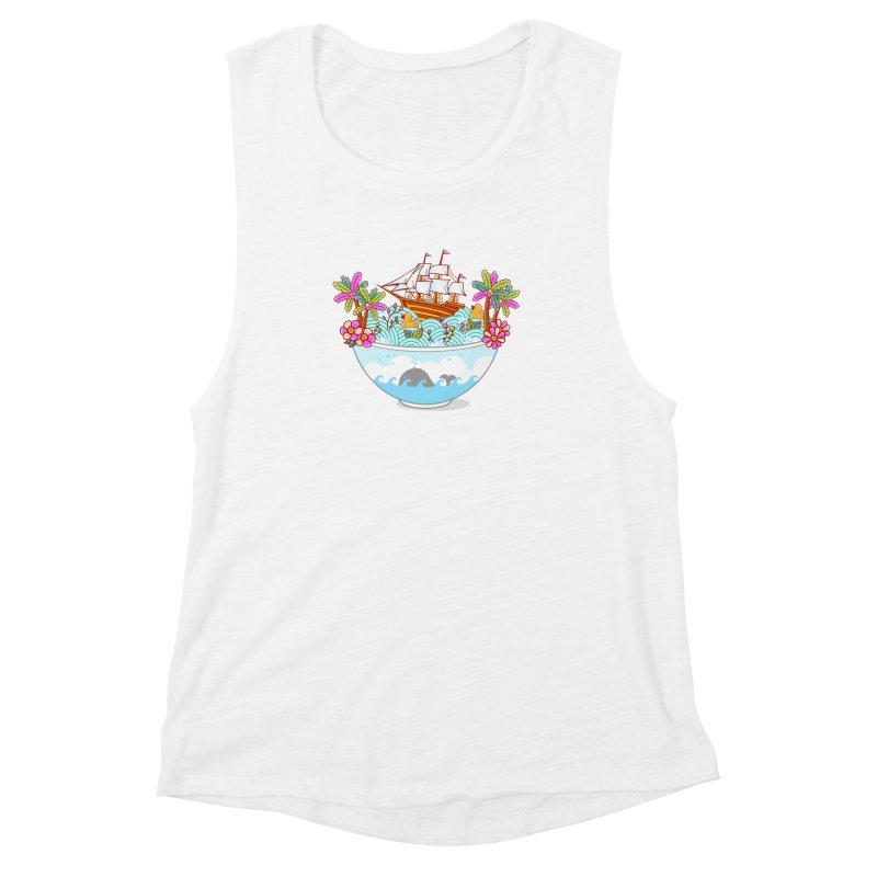 Ocean Adventure Ramen Women's Muscle Tank by godzillarge's Artist Shop