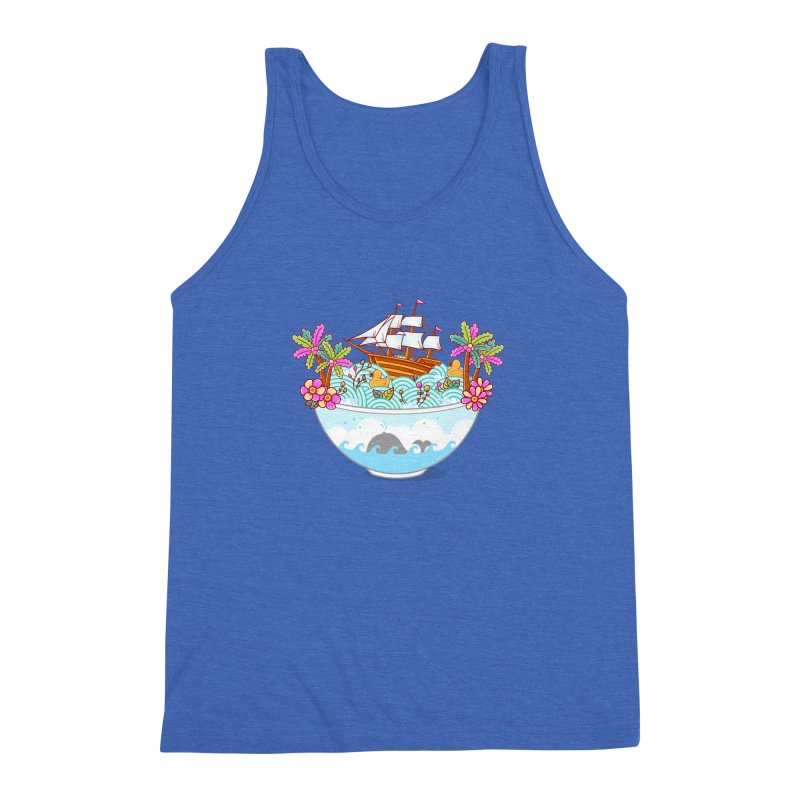 Ocean Adventure Ramen Men's Triblend Tank by godzillarge's Artist Shop