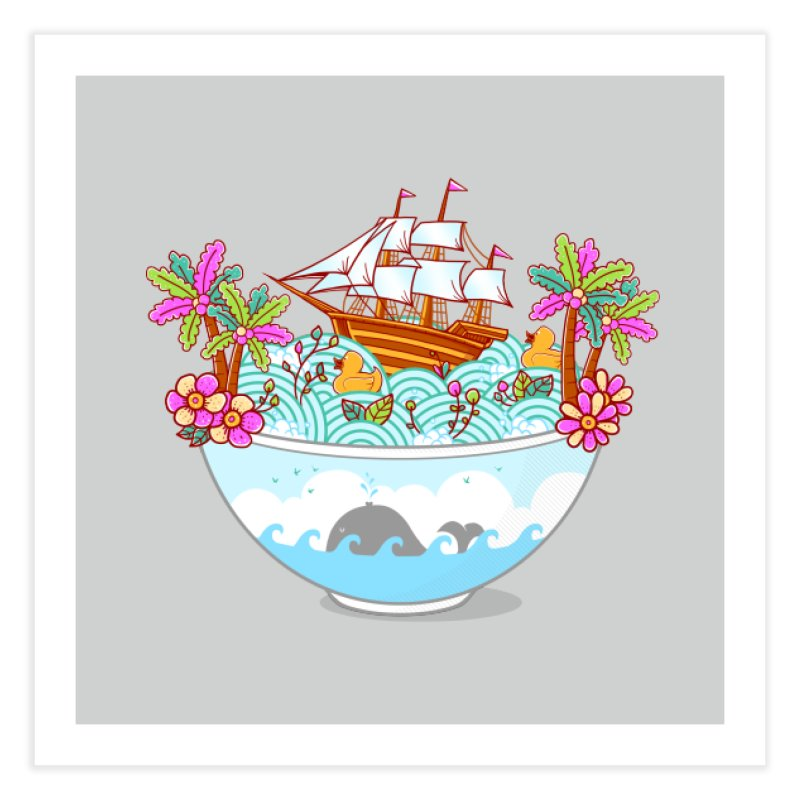 Ocean Adventure Ramen Home Fine Art Print by godzillarge's Artist Shop