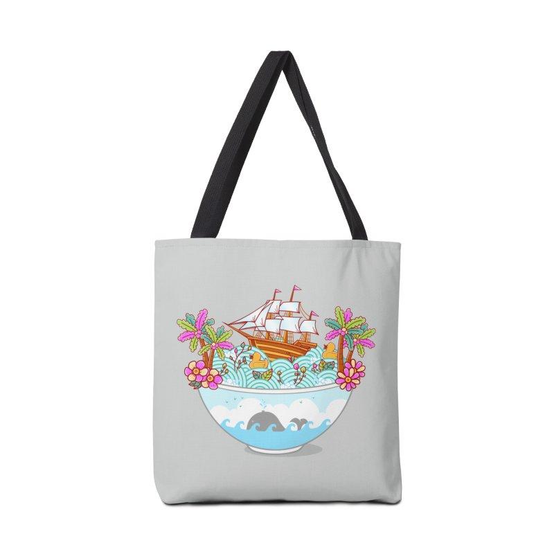 Ocean Adventure Ramen Accessories Bag by godzillarge's Artist Shop