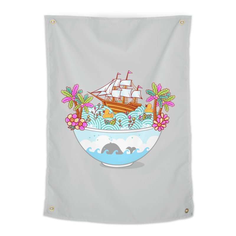 Ocean Adventure Ramen Home Tapestry by godzillarge's Artist Shop