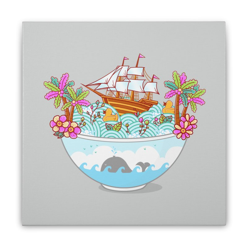 Ocean Adventure Ramen Home Stretched Canvas by godzillarge's Artist Shop