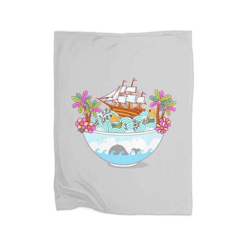 Ocean Adventure Ramen Home Blanket by godzillarge's Artist Shop