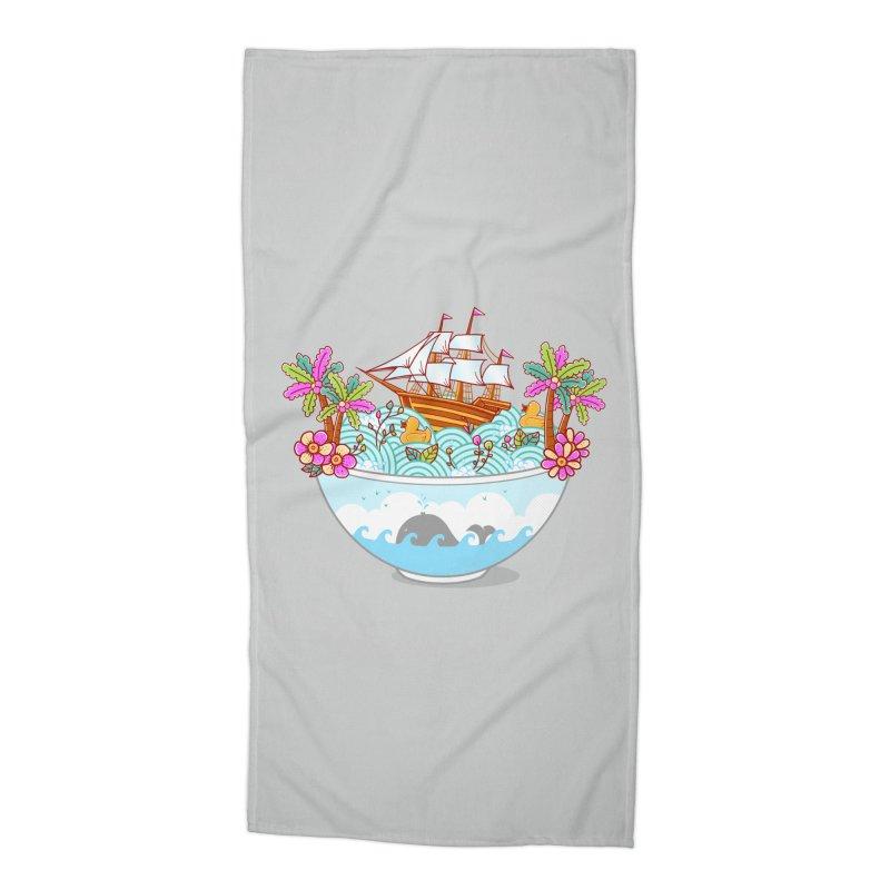 Ocean Adventure Ramen Accessories Beach Towel by godzillarge's Artist Shop