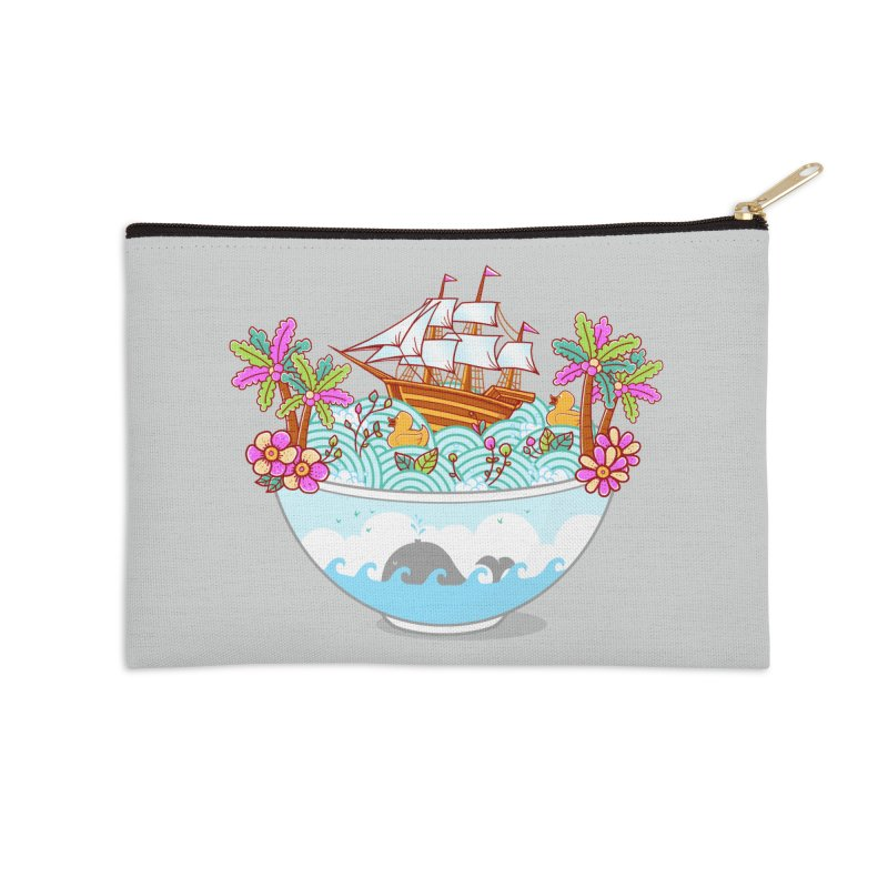 Ocean Adventure Ramen Accessories Zip Pouch by godzillarge's Artist Shop